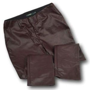 Lauren Ralph Lauren Wine Faux Leather Pants 8